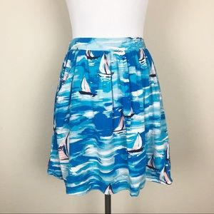 Lauren Conrad Pocketed Sailboat Flowy Skirt